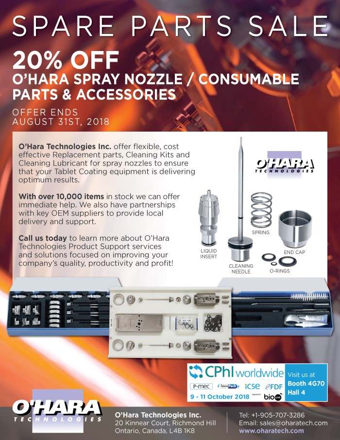 20 % OFF O'HARA SPRAY NOZZLE/CONSUMABLE PARTS & ACCESSORIES